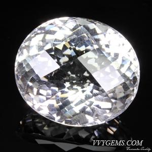 ร็อก คริสตัล (Rock Crystal) รูปไข่ เหลี่ยมตาข่าย 51.95 ct