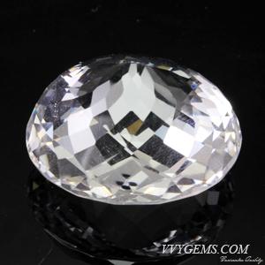 ร็อก คริสตัล (Rock Crystal) รูปไข่ เหลี่ยมตาข่าย 51.95 ct 1