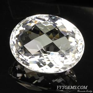 ร็อก คริสตัล (Rock Crystal) เหลี่ยมตาข่าย 41.93 กะรัต