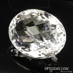 ร็อก คริสตัล (Rock Crystal) เหลี่ยมตาข่าย 41.93 กะรัต 1
