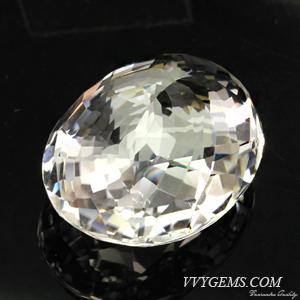 ร็อก คริสตัล (Rock Crystal) เหลี่ยมตาข่าย 41.93 กะรัต 2