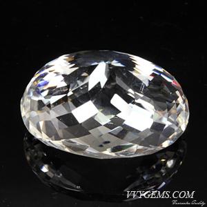ร็อก คริสตัล (Rock Crystal) เหลี่ยมตาข่าย 68.14 กะรัต 2