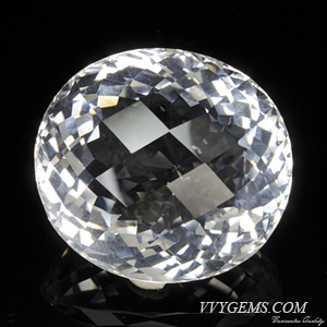 ร็อก คริสตัล (Rock Crystal) เหลี่ยมตาข่าย 63.02 กะรัต