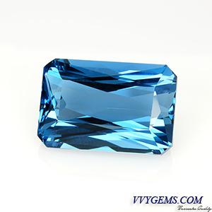 สวิสบลูโทแพซ (Swiss Blue Topaz) 20.33 ct