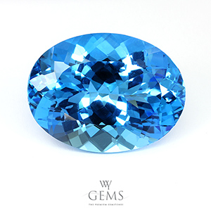 สวิสบลูโทแพซ (Swiss Blue Topaz) 19.59 ct