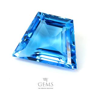 สวิสบลูโทแพซ (Swiss Blue Topaz) 20.50 ct