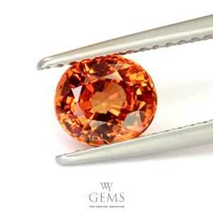 สเปสซาร์ไทต์ (Spessartite Garnet) 1.55 กะรัต สีส้มแฟนต้า