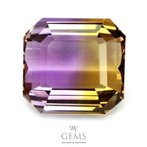 อเมทริน (Ametrine) 27.90 ct สองสี เหลือง-ม่วง