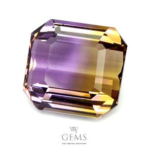 อเมทริน (Ametrine) 27.90 ct สองสี เหลือง-ม่วง 1