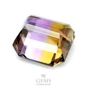 อเมทริน (Ametrine) 27.90 ct สองสี เหลือง-ม่วง 2