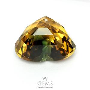 บุษราคัม(Yellow Sapphire) 10.54 กะรัต หัวใจสองสี 2
