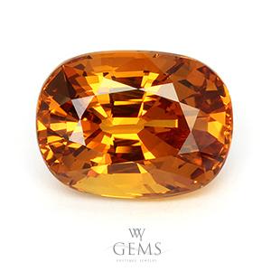 บุษราคัม(Yellow Sapphire) 10.10 ct แม่โขง ไฟเต็ม VVS
