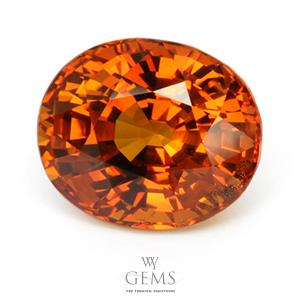 บุษราคัม(Yellow Sapphire) 21.50 กะรัต สีแม่โขงส้ม ไฟเต็มเม็ด 1