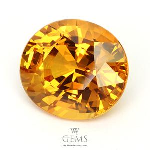 บุษราคัม(Yellow Sapphire) 26.20 กะรัต เหลืองทอง เม็ดใหญ่ 1