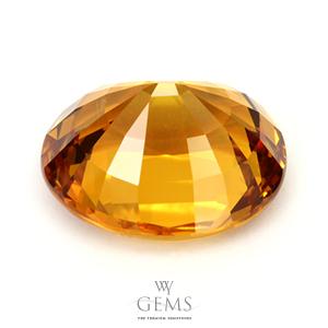 บุษราคัม(Yellow Sapphire) 26.20 กะรัต เหลืองทอง เม็ดใหญ่ 2