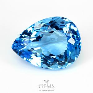 สวิสบลูโทแพซ (Swiss Blue Topaz) 17.28 ct
