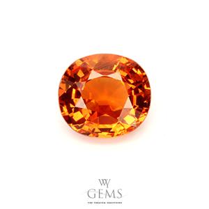 สเปสซาร์ไทด์ (Spessartite Garnet) 1.80 กะรัต สีส้มแฟนต้า
