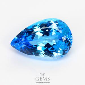 สวิสบลูโทแพซ (Swiss Blue Topaz) 13.96 ct