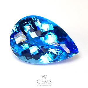 สวิสบลูโทแพซ (Swiss Blue Topaz) 41.72 ct สีพิเศษ