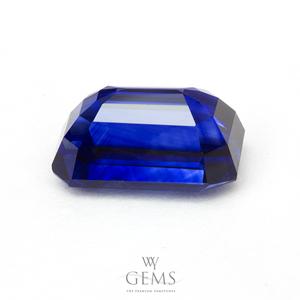 [GIT Certified]ไพลิน(Blue Sapphire) 3.00 กะรัต สีรอยัลบลู สี่เหลี่ยมตัดมุม 2