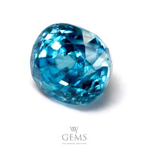 เพทาย (Blue Zircon) 6.05 กะรัต รูปไข่ 1