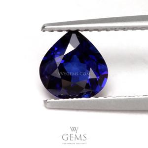 ไพลิน(Blue Sapphire) 1.17 กะรัต หยดน้ำ น้ำเงินเข้ม 1