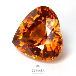 [GIT Certified]บุษราคัม(Yellow Sapphire) 10.44 กะรัต หัวใจ แม่โขงเข้ม ไฟเต็มเม็ด 1