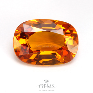 [GIT Certificate]บุษราคัม(Yellow Sapphire) 5.19 กะรัต พลอยดิบ ไม่ผ่านการเผา สีสวย