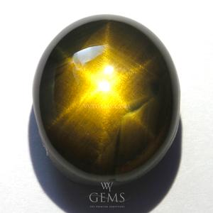[GIT Certified] สตาร์บุษฯ (Golden Star Sapphire) 10.18 กะรัต พลอยดิบ หัวทองพิเศษ หายาก