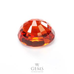 [[[GLC Certified]]]ซองเจีย(Orange Sapphire) 3.17 กะรัต ส้มแดง ไฟเต็ม 2