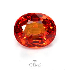 ซองเจีย(Orange Sapphire) 4.03 กะรัต ส้มแดง