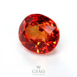 ซองเจีย(Orange Sapphire) 4.03 กะรัต ส้มแดง 1