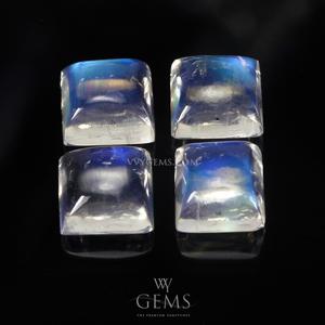 มุกดา (Moonstone) 5.80 กะรัต (4 เม็ด) สี่เหลี่ยม 6 mm. สีสวย 1