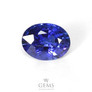 ไพลิน(Blue Sapphire) 1.18 กะรัต รูปไข่ สีสวย