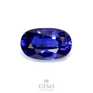 ไพลิน(Blue Sapphire) 0.92 กะรัต รูปไข่ สีสวย