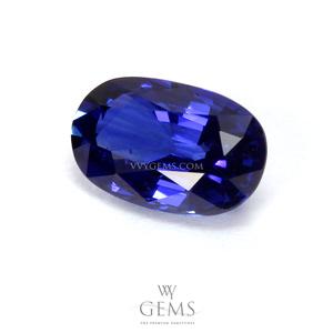 ไพลิน(Blue Sapphire) 0.92 กะรัต รูปไข่ สีสวย 1