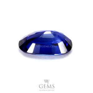 ไพลิน(Blue Sapphire) 0.92 กะรัต รูปไข่ สีสวย 2