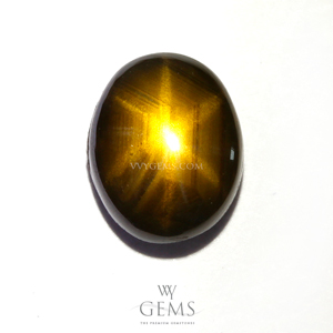 สตาร์บุษฯ (Golden Star Sapphire) 2.37 กะรัต พลอยดิบ