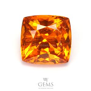 สเปสซาร์ไทด์ (Spessartite Garnet) 4.15 กะรัต สีส้มแฟนต้า คุชชั่น