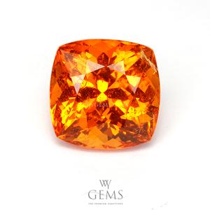 สเปสซาร์ไทด์ (Spessartite Garnet) 3.54 กะรัต สีส้มแฟนต้า คุชชั่น