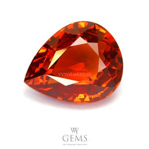 สเปสซาร์ไทด์ (Spessartite Garnet) 7.82 กะรัต สีแดงออกส้ม