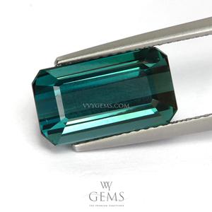 ทัวร์มาลีน (Tourmaline) 5.51 กะรัต Green-Blue