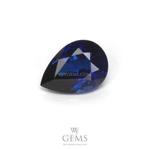 ไพลิน(Blue Sapphire) 0.90 กะรัต หยดน้ำ