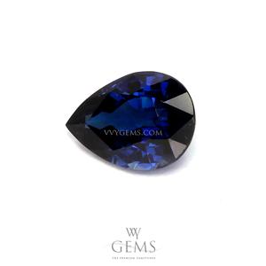 ไพลิน(Blue Sapphire) 0.90 กะรัต หยดน้ำ 1