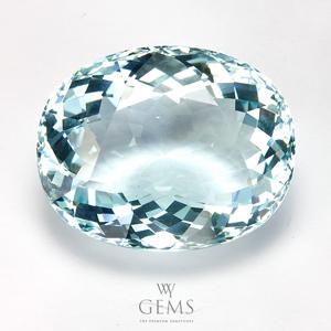 อะความารีน (Aquamarine) 34.19 กะรัต สีฟ้าอ่อน IF
