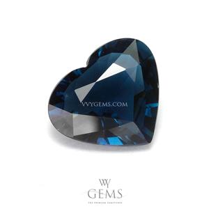 [GIT Certified]อินดิโคไลท์ทัวร์มาลีน (Indicolite Tourmaline) 2.79 กะรัต สีน้ำเงินอมเขียว หัวใจ
