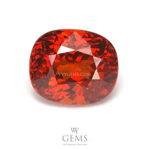 สเปสซาร์ไทด์ (Spessartite Garnet) 4.10 กะรัต สีแดงออกส้ม