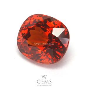 สเปสซาร์ไทด์ (Spessartite Garnet) 4.10 กะรัต สีแดงออกส้ม 1