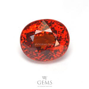 สเปสซาร์ไทด์ (Spessartite Garnet) 5.17 กะรัต สีแดงออกส้ม