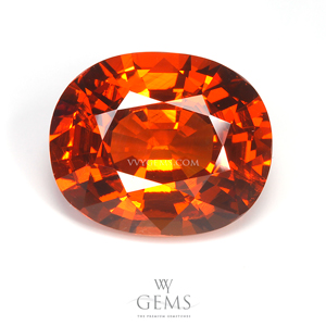 สเปสซาร์ไทด์ (Spessartite Garnet) 5.93 กะรัต สีส้ม
